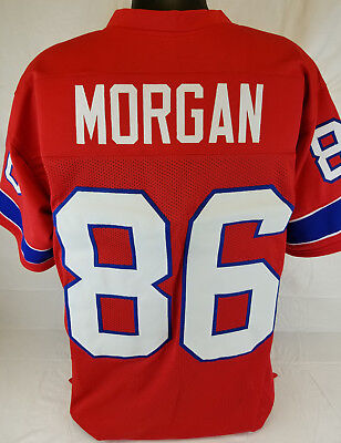 Stanley Morgan Unsigned Custom Sewn Red Football Jersey Size   L  Xl  2Xl