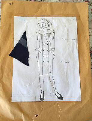 Vintage 90s Pop Era Fashion Couture Pattern #761 Dress~Macy's Clothing Line NY