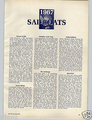 1967 PAPER AD 9 PG 1967 Sailboats Specs Photos Chris Craft Pearson Jensen Marine