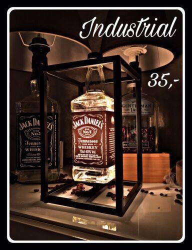 Jack Daniels Lampe Tischleuchte Tischlampe Industrie Design Flasche