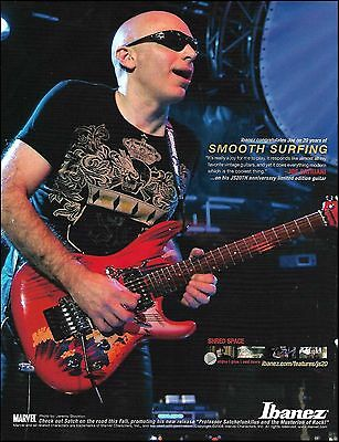 Joe Satriani 20th Anniversary Signature Ibanez JS guitar ad 8 x 11 advertisement for sale  Shipping to Canada