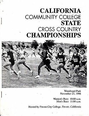 1996 CALIFORNIA COMMUNITY COLLEGE CROSS COUNTRY CHAMPIONSHIPS PROGRAM TRACK
