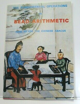 Vintage Abacus Book Pocket Size Fundamental Operations Bead Arithmetic