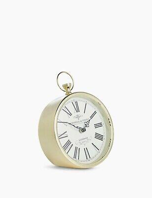 M&S Fob Mantel Clock Antique Brass