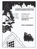 TRANSPORT CANADA EMPLOYEES & RETIREES CHRISTMAS CRAFT FAIR