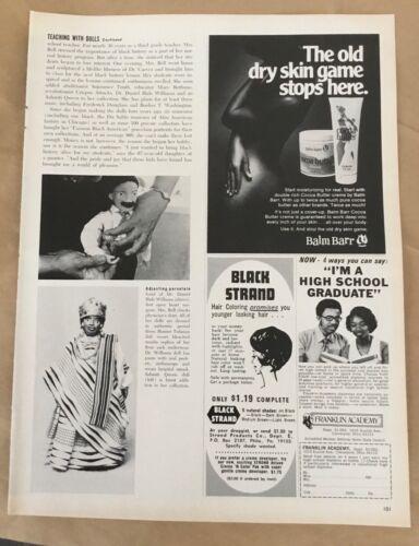 Balm Barr skin cream & product ad 1972 orig vintage print 1970s retro art beauty