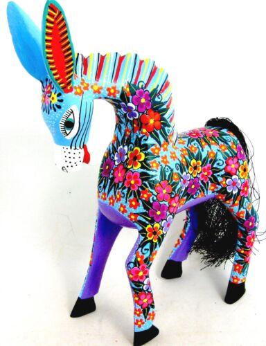 OAXACAN WOOD CARVING BURRO - MARIA JIMENEZ - MEXICAN FOLK ART ALEBRIJE