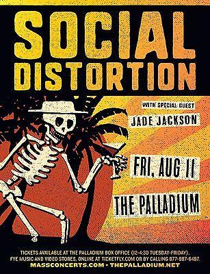 SOCIAL DISTORTION 2017 WORCESTER, MASS CONCERT TOUR POSTER-Punk/Blues Rock Music