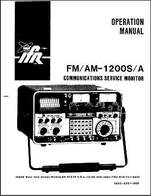 Ifr Fmam 1200sa Communications Monitor Service Manual On Cd