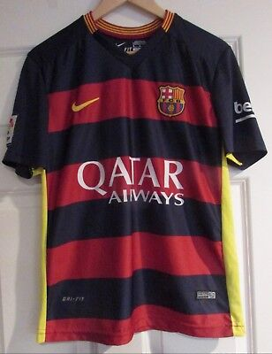 8f3c980406bed FC Barcelona Luis Suarez  9 Qatar Airways Soccer Jersey Sz Small by Nike