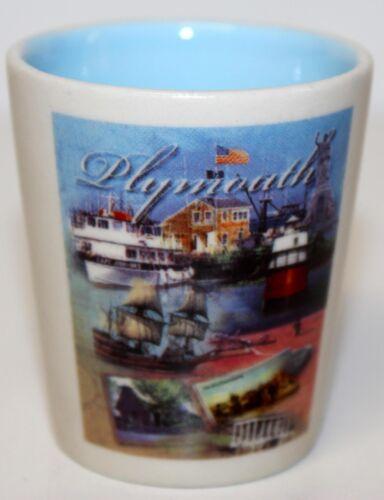 "Plymouth ~ Ceramic Shot Glass 2 1/4"" Tall"