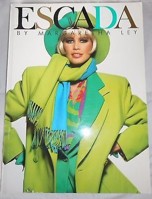 ESCADA Vintage 1991 Fashion Catalog Book Advertising  Marketing Autumn Winter
