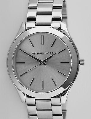 f651dd55de2a Michael Kors Slim Runway MK3178 Silver Dial all Stainless Steel Unisex Watch