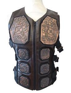 Steampunk  industrial SDL larp amour Waistcoat copper metal cogs size M chest 42