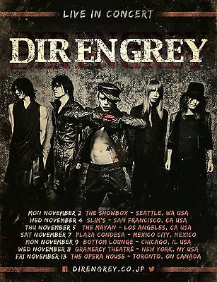 "DIR EN GREY ""LIVE IN CONCERT"" 2015 NORTH AMERICAN TOUR POSTER- Avant-garde Metal"