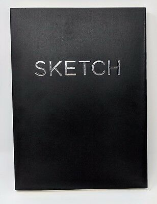 Open Bound Sketchbook - Black - Large 100 GSM Wood-free Acid-Free Paper