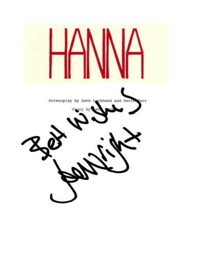 DIRECTOR JOE WRIGHT SIGNED 'HANNA' FULL MOVIE SCRIPT SCREENPLAY AUTOGRAPH w/COA