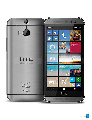 New HTC One M8 4G LTE Windows SmartPhone Verizon + GSM Unlocked