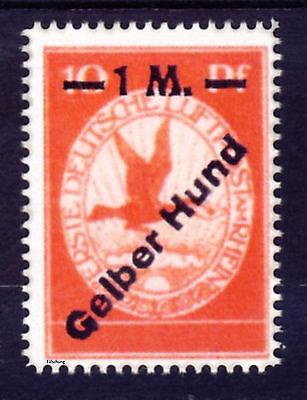 Deutsche Reich 1912 Flugpost Mi. IV (*) Gelber Hund  Fälschung