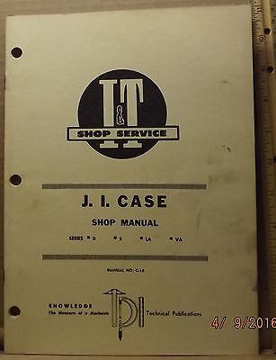 Case D S La Va Tractor It Service Shop Manual Very Good
