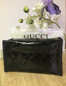 9565c22b3a38 New Gucci Guilty Parfums Black Case Pouch Make Up Bag Toiletry Dopp Kit.
