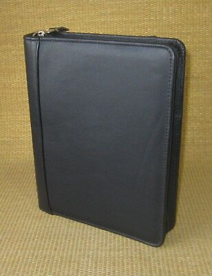 Classic 1.5 Rings Black Leather Franklin Covey Zip Plannerbinder Sample