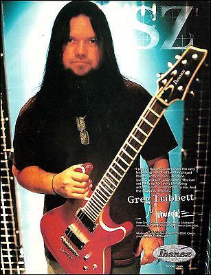 Mudvayne Greg Tribbett 2005 Ibanez Electric Guitar ad 8 x 11 advertisement