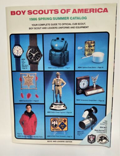 1986 Spring/Summer Catalog Boy Scouts of America Catalog Boys & Leaders Edition