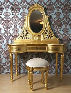 Magnifique coiffeuse commode de miroir baroque dor la for Acheter miroir baroque