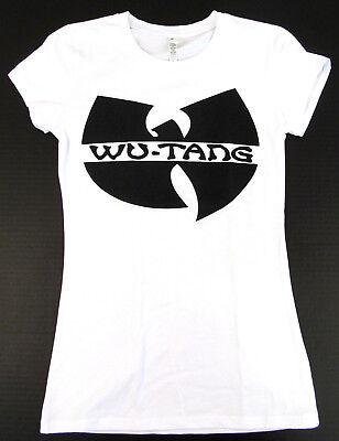 Juniors White Tee T-shirt - WU TANG CLAN T-shirt Women JUNIORS S-XL Rap Hip Hop Gza Rza ODB New White Tee