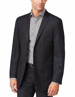 NEU CALVIN KLEIN Herren Schwarz Gray Wolle Muster Blazer Sport Mantel Jacke $350 - Calvin Klein Sport Mantel