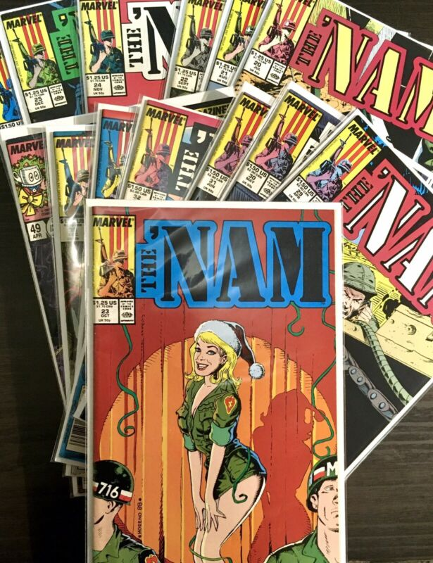 (Lot Of 14)Marvel Comics The Nam Mostly Newsstand