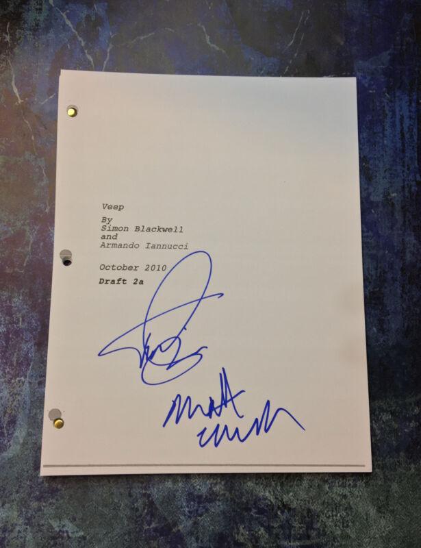 GFA Matt Walsh & Timothy Simons * VEEP CAST * Signed TV Script COA