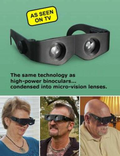 Zoomies Hands Free Binoculars 4X Magnification Zoom Enlarge Glasses Telescopes