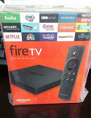 Amazon Fire TV Box 2017 version Alexa Voice Remote Control 4k Brand New Packaged
