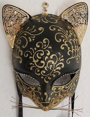 he Maske (Ägyp. Katze) von La Gioia + Zertifikaten Handmade (Venezianische Maske Katze)