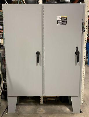 Hoffman A72x6112lpftc Two-door Disconnect Steel Enclosure Wfloor Stands Type 12