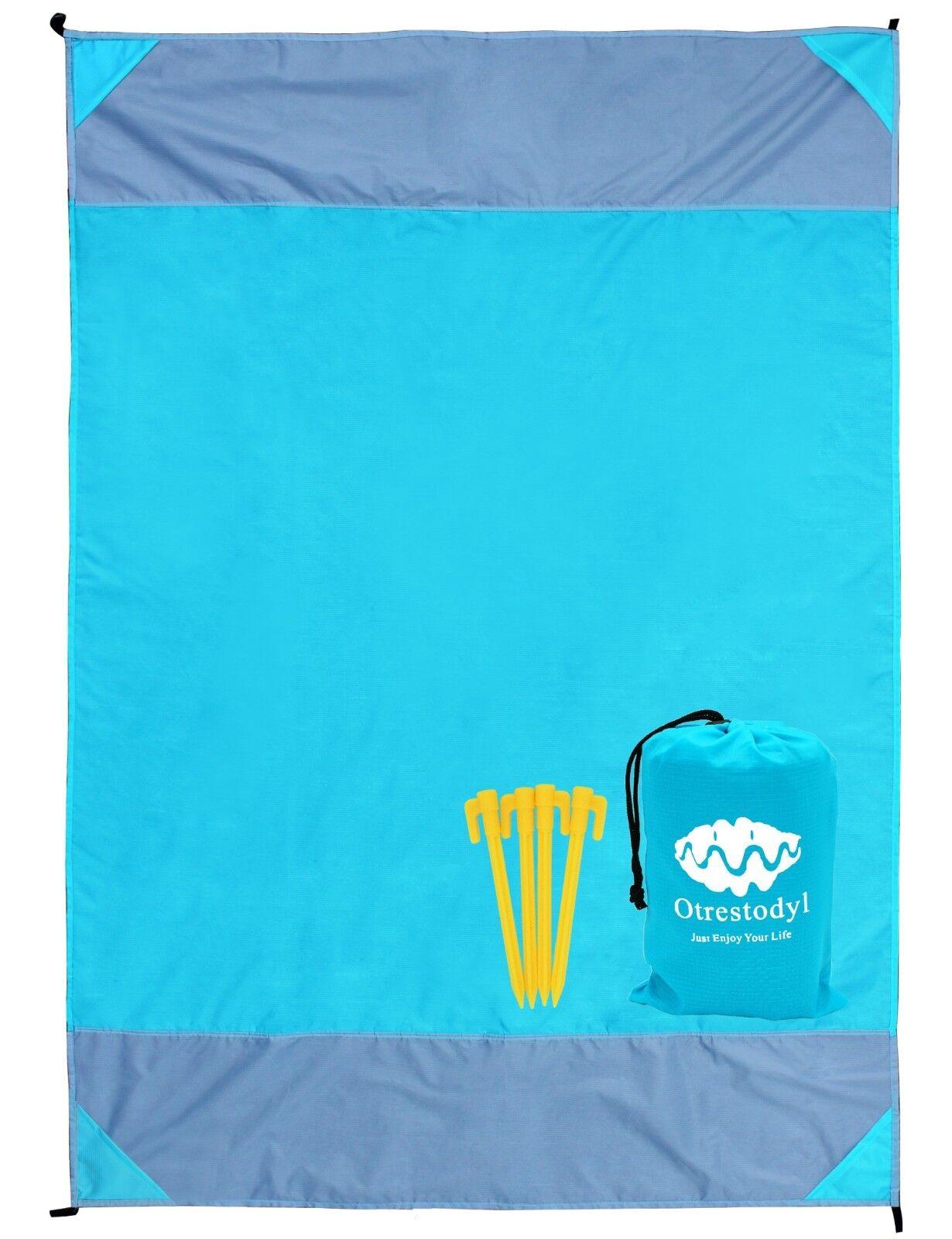 "Otrestodyl Sandproof Beach Blanket 79"" X 57"" Waterproof Picn"