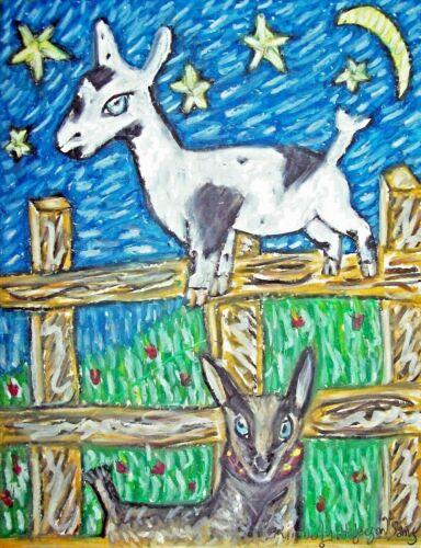 Nigerian Dwarf Dairy Goat - 5x7 Art Print - Wall Décor - Signed by Artist KSams