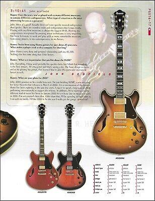 John Scofield Ibanez Artstar AS200 AS120 AS80 guitar ad 8 x 11 advertisement, used for sale  Flint