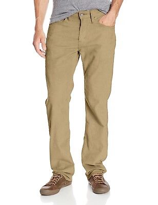 Levis 514 Corduroy Pants Mens Straight Fit Tan Flat Front Stretch Cord Jeans ()