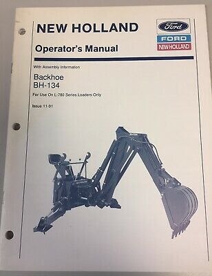 Ford New Holland Backhoe Bh-134 Operators Manual 43650152