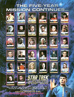 STAR TREK ORIGINAL SERIES 2 SKYBOX AUTOGRAPH SHEET 8.5x11 +2 PROMO CARDS 3.5x2.5