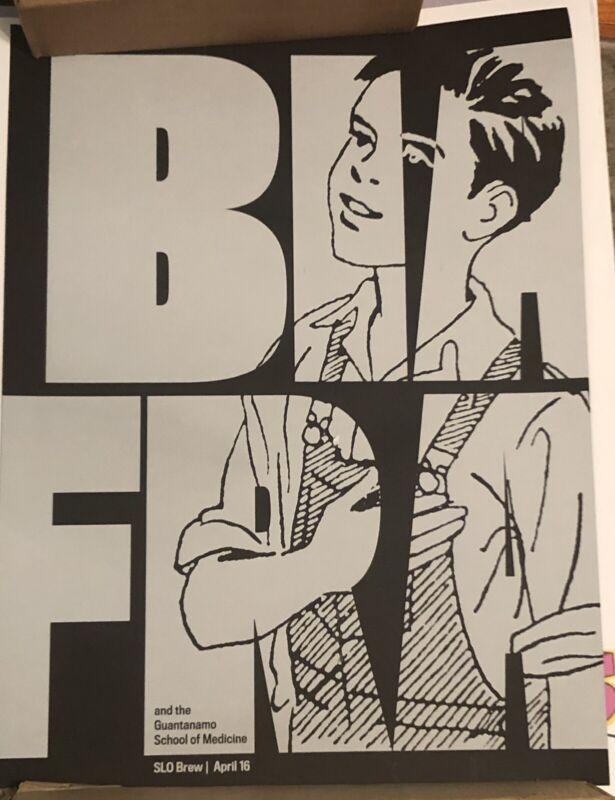 Punk Poster Jello Biafra Guantanamo School of Medicine SLO Brew CA 2013