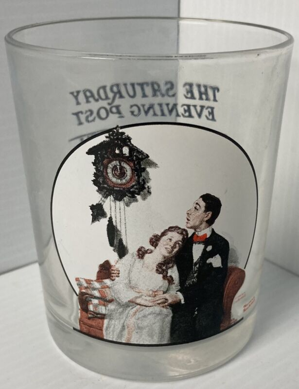 Saturday Evening Post Norman Rockwell Glass Courting At Midnight