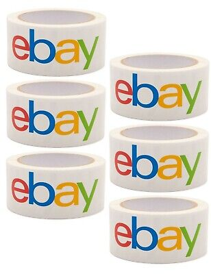 6 Rolls Official Genuine Authentic Ebay Brand Logo Packaging Tape Shipping 2x75