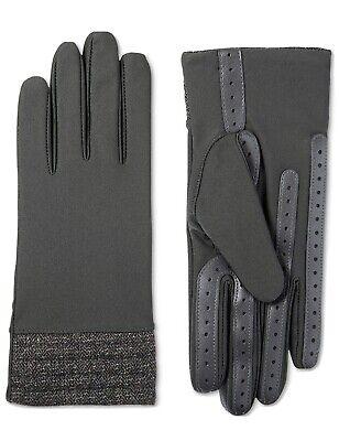 New Isotoner Signature Black Glitter Gloves -