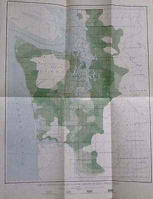 Geological Map Western Washington Density Merchantable Timber Seattle Puget 1898