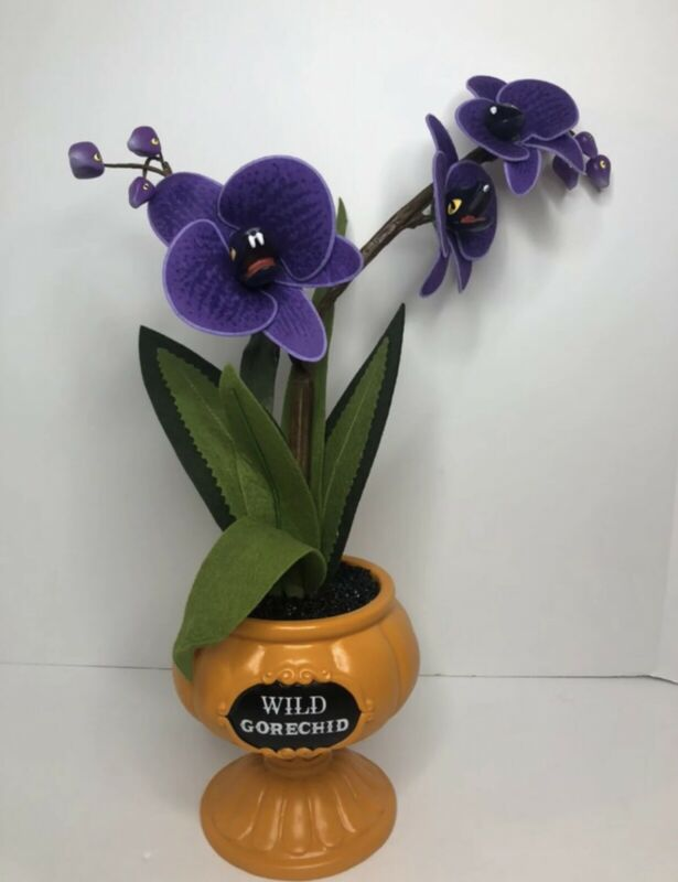 Hyde and EEK 2021 Wild Gorechid Faux Halloween Creepy Succulent Orchid SOLD OUT