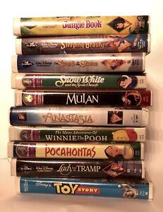 Classic Disney Cartoon Movies! 10xVHS tapes barely viewed!
